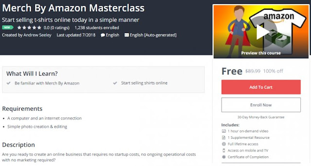 [100% Off] Merch By Amazon Masterclass| Worth 89,99$