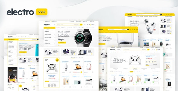 Electro v2.5.1 Electronics Store WooCommerce WordPress Template Free Download