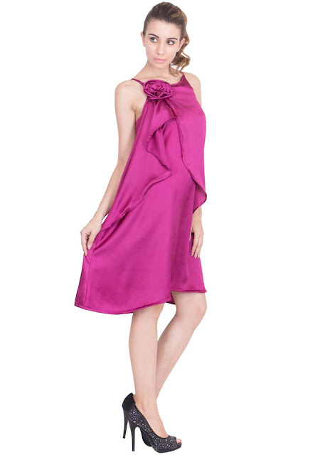 Fuschia Love Maxi A line dress by Ashima S Couture
