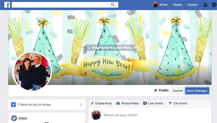 How to Upload a New Facebook Cover