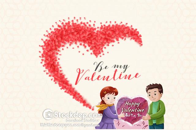background for valentines day tặng quà người yêu