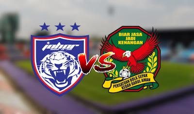 Live Streaming JDT vs Kedah Piala Sumbangsih 28.2.2020