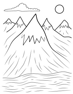 mountain coloring pages print - photo#24