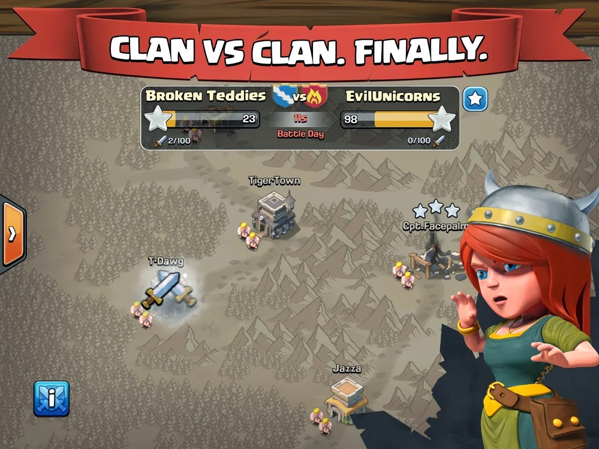 Clash of Clans Mod Hack APK (Unlimited Gold Infinite Gems Dark Elixir) Offline Update Terbaru 2015