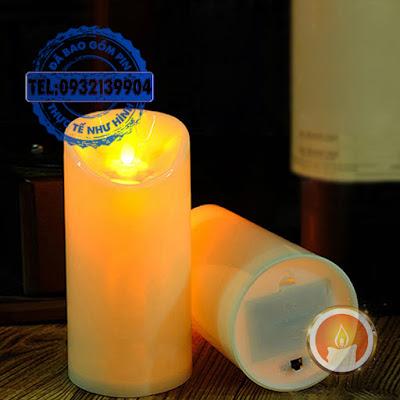 Đèn cầy led vỏ nhựa tim đèn lắc lư