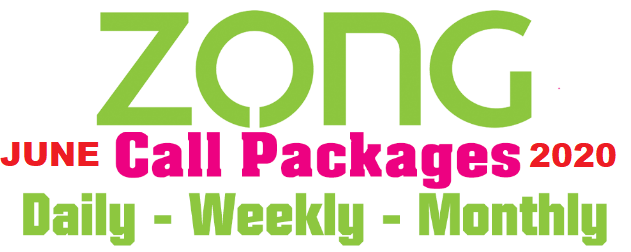 Zong Call Packages Hourly Student Daily 3 days Weekly and Zong Monthly call package