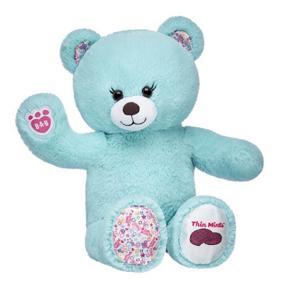 She's finally here! The brand new Thin Mints® Cookie Bear is now available at Build a Bear.