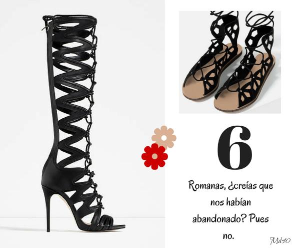 zapatos y sandalias primavera verano 2016 romanas