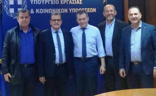 Με τον Υπουργό Εργασίας Γιάννη Βρούτση συναντήθηκε ο Πρόεδρος του Επιμελητηρίου Αργολίδας