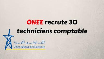 ONEE recrute 30 techniciens comptable