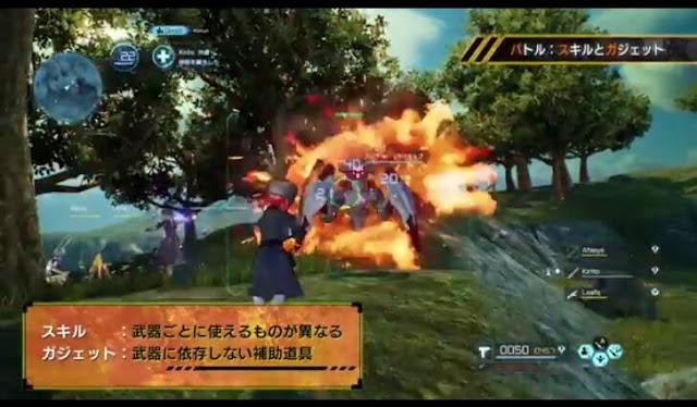 First screenshot from Sword Art Online: Fatal Bullet's first trailer