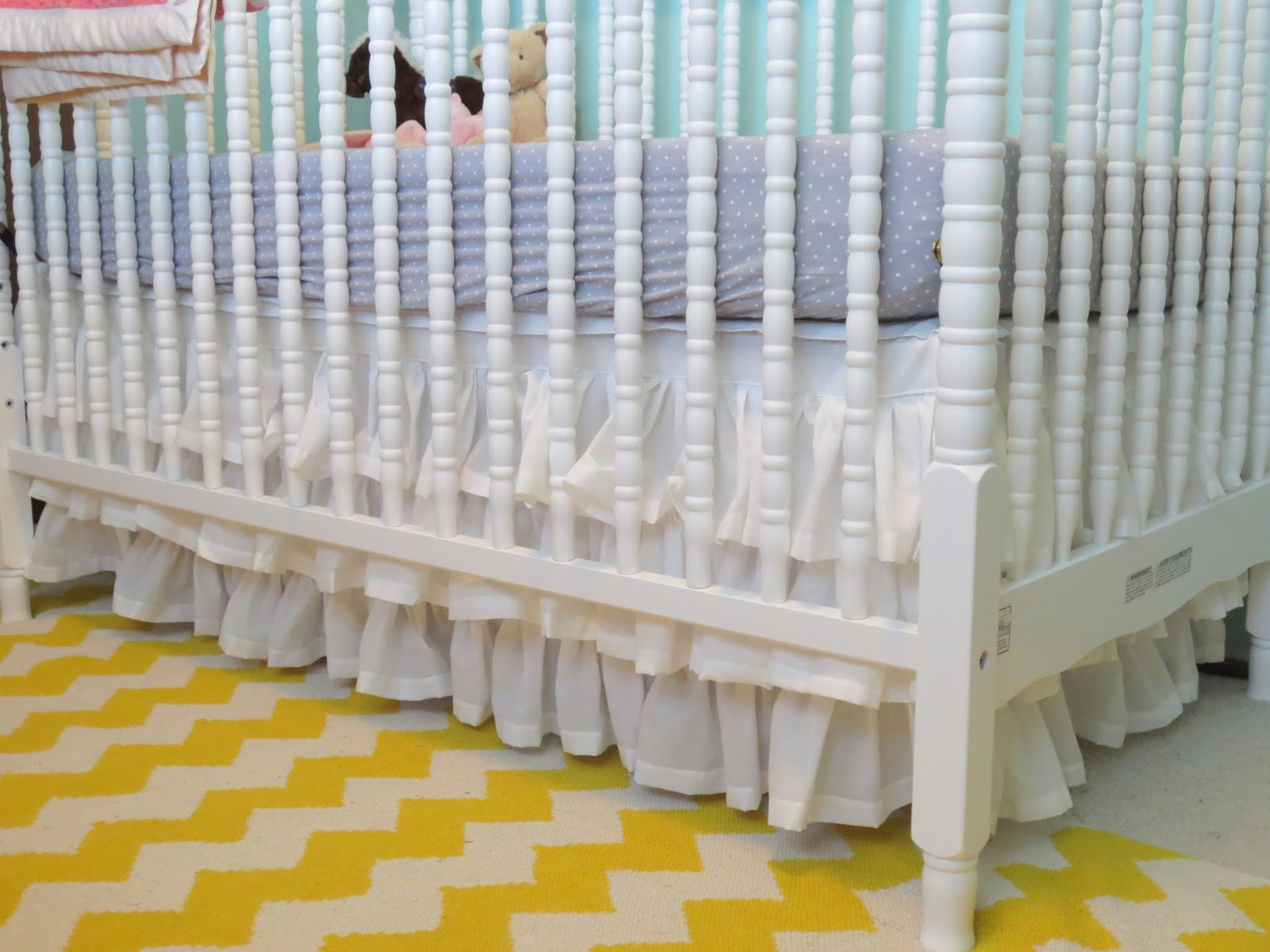 Make Bake And Love Diy Ruffled Crib Skirt