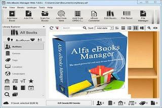 Alfa eBooks Manager Web 8-2-3-1 برنامج بإنشاء مكتبة كتب إلكترونية منظمة