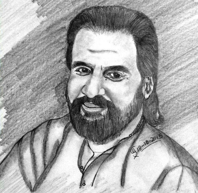 PENCIL DRAWING K.J.YESUDAS - 10- 01 - 2017