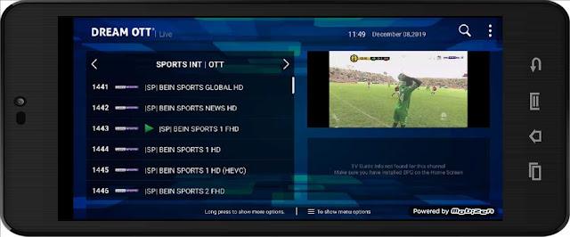 تحميل تطبيق Dream OTT APK مع أكواد التفعيل لمشاهدة جميع قنوات العالم مباشرة على الأندرويد