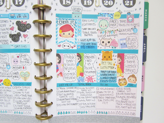 Disney Theme Planner Spread