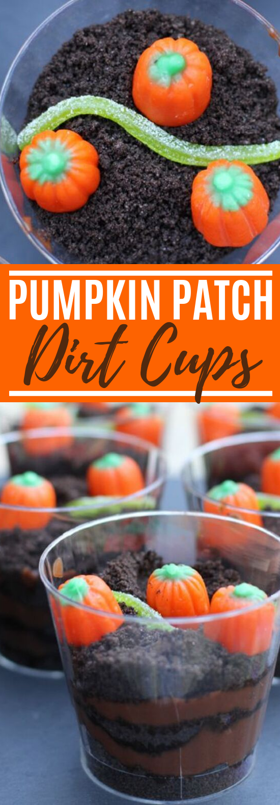 Pumpkin Patch Dirt Cups #desserts #pumpkin