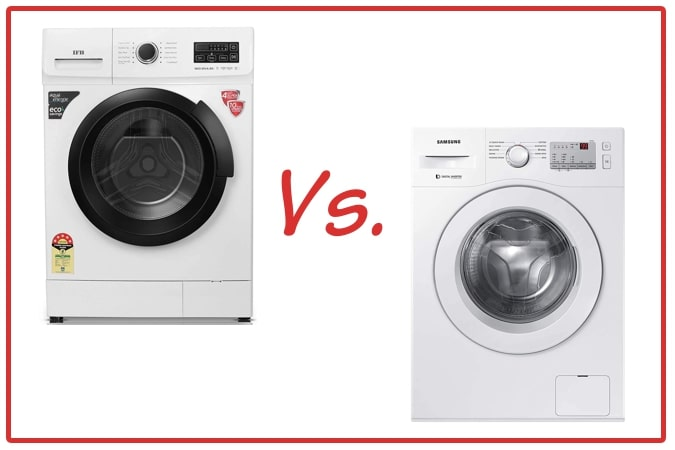 IFB Neo Diva BX (left) and Samsung WW60R20GLMA/TL (right) Washing Machines.
