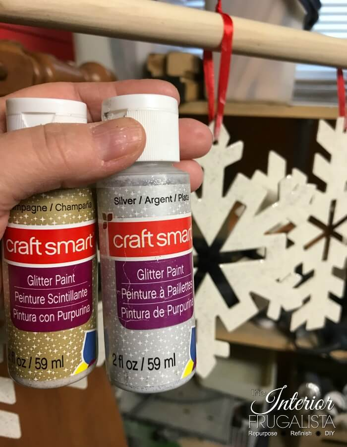 Large Snowflake Craft Glitter Paint