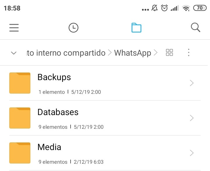 carpetas de whatsapp