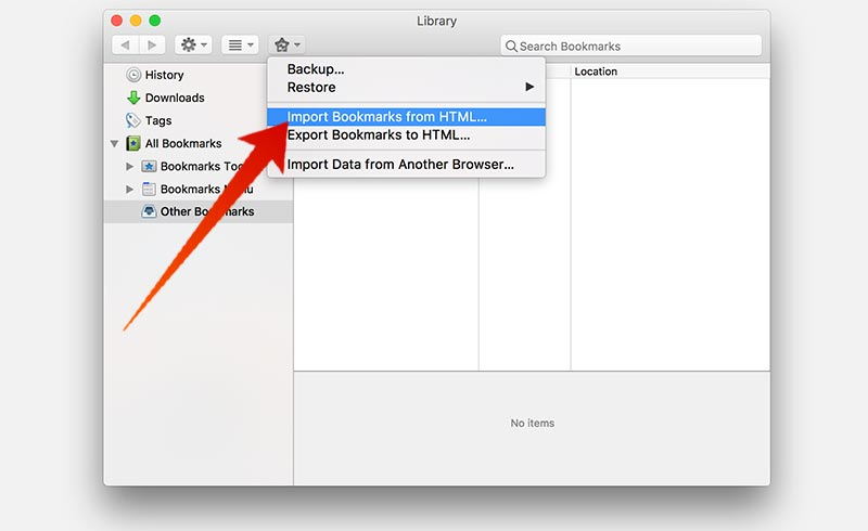 export bookmarks from chrome to firefox