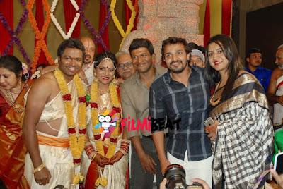 puneeth-rajkumar-vijaya-raghavendra-t-s-nagabharana-s-son-wedding