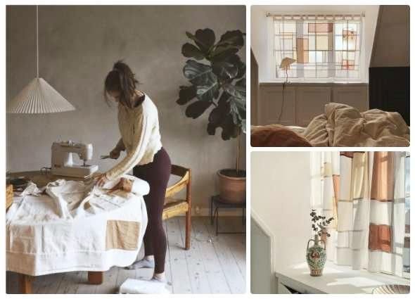 Pojagi patchwork decoración, manualidades, labores hogar