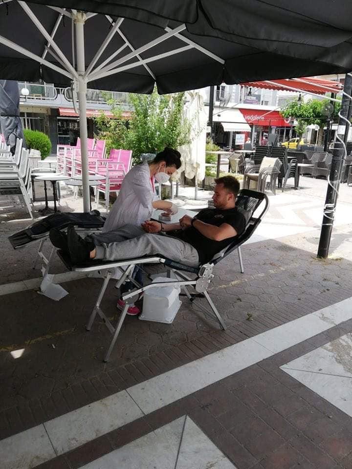 Επιτυχής η εθελοντική αιμοδοσία που διοργάνωσε το Κ.Α.Π.Η. Δήμου Τυρνάβου