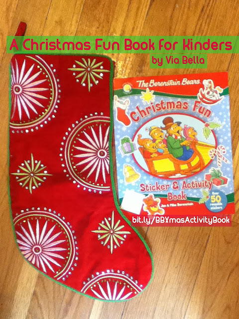 A Christmas Fun Book for Kinders , The Berenstain Bears, Christmas, Activity Book, Fun, Christmas Fun, Christian, Book Review