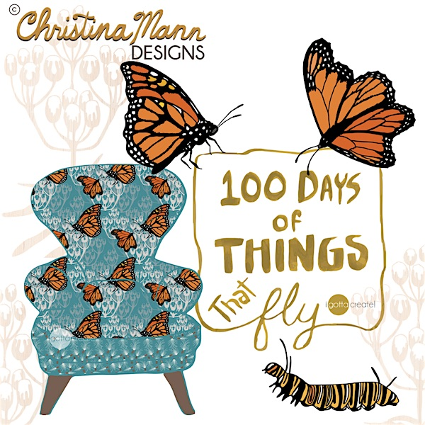 100 Days Project: 100 Days of things that Fly | art by Christina Mann Designs ~ I Gotta Create!