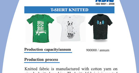 Knitting And T Shirt Manufacturing Business Start Up