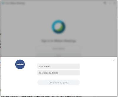 cara menggunakan webex meeting di laptop