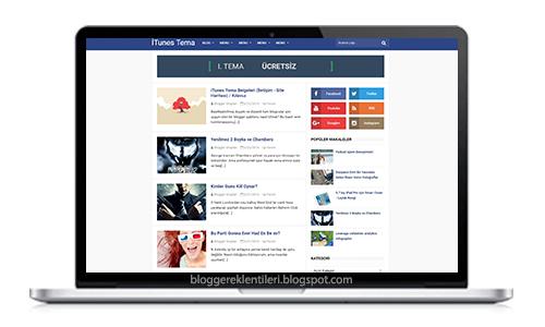 Ücretsiz Blogger İTunes Teması
