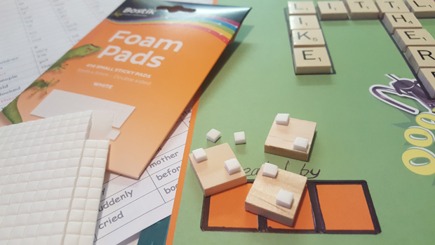Creating a scrabble craft project to help children learn to spell