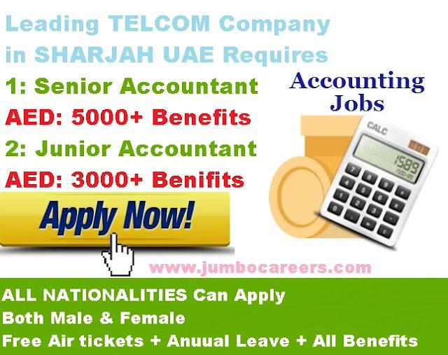 gulf accountant jobs, latest job for accountant in sharjah,