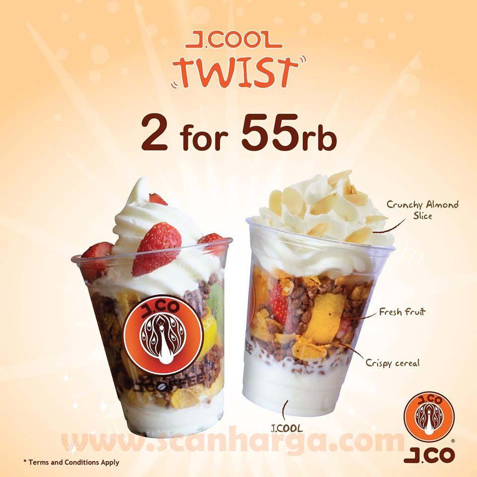 Promo JCO 2 Jcool Twist Harga 55 Ribu