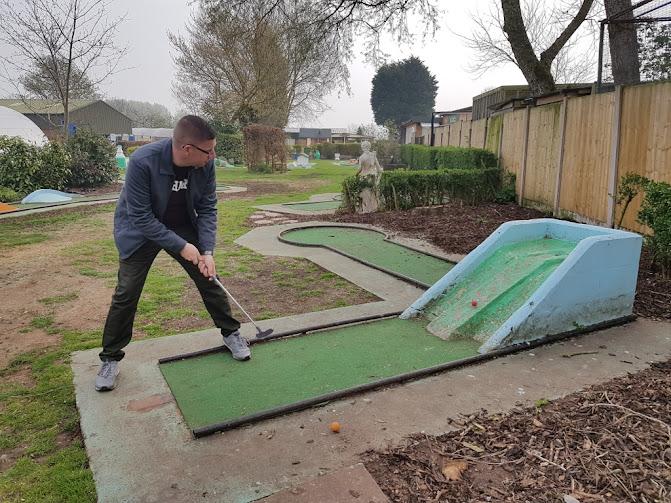 Crazy Golf at Fletchers Garden Centre