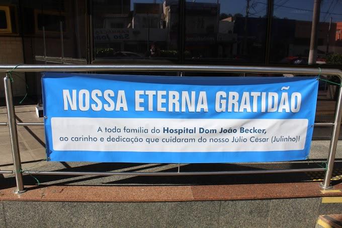 GRAVATAÍ | Família de paciente faz agradecimento aos funcionários do HDJB