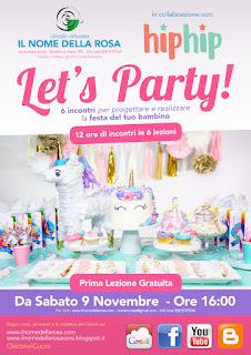 LET'S PARTY: 6 incontri per progettare e realizzare la festa del tuo bambino