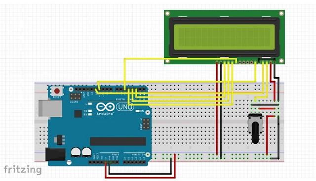 इस प्रकार lcd को arduino से connect करें