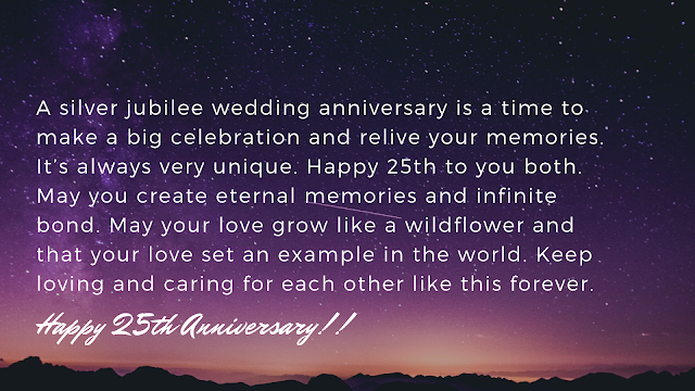 25th anniversary messages