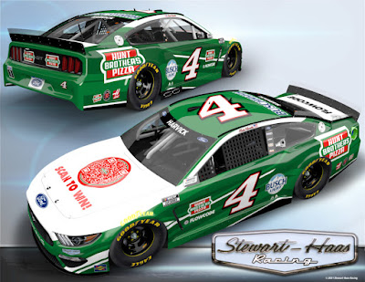 Custom-designed racecar driven by NASCAR Cup Series champion Kevin Harvick will deliver a first-of-its-kind Hunt Brothers Pizza experience powered by next-generation QR technology