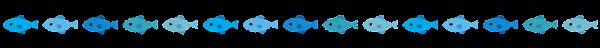 魚のライン素材(青)