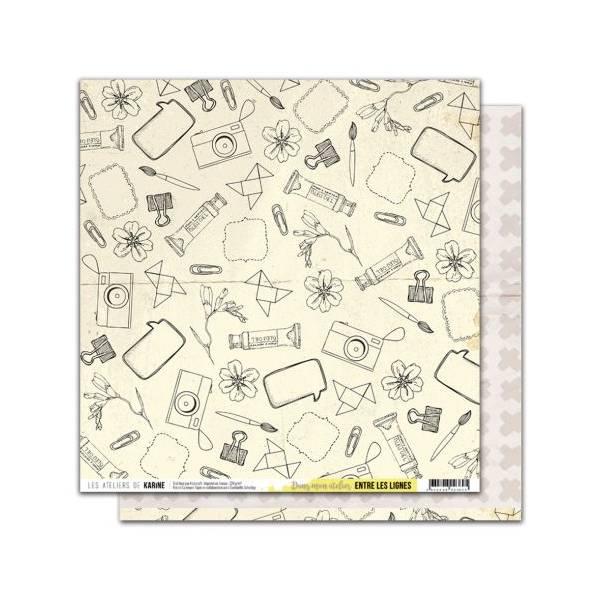 le scrap d 39 opsite trio de cartes entre les lignes de karine cazenave tapie pour. Black Bedroom Furniture Sets. Home Design Ideas
