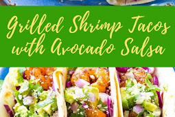 Grilled Shrimp Tacos with Avocado Salsa