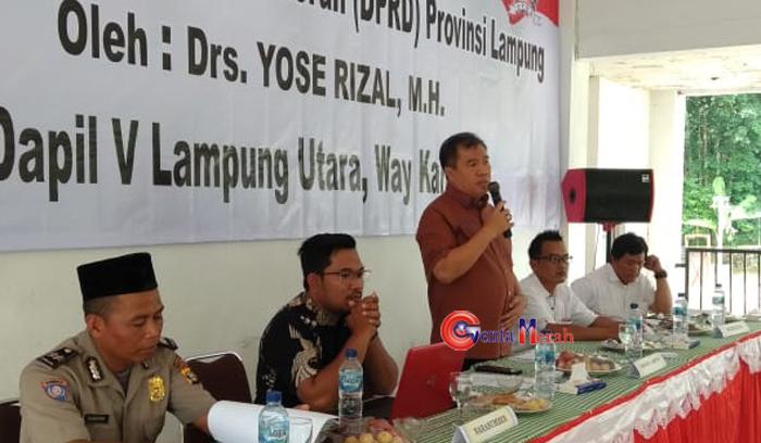 Diharapkan Warga Beran Aktif , Anggota DPRD Lampung Gelar Sosialisasi Perangi Narkoba