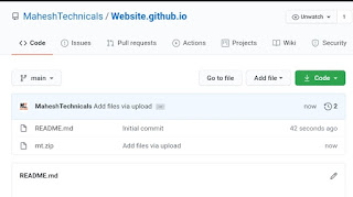 How To Host A Website On GitHub - upload file to repository