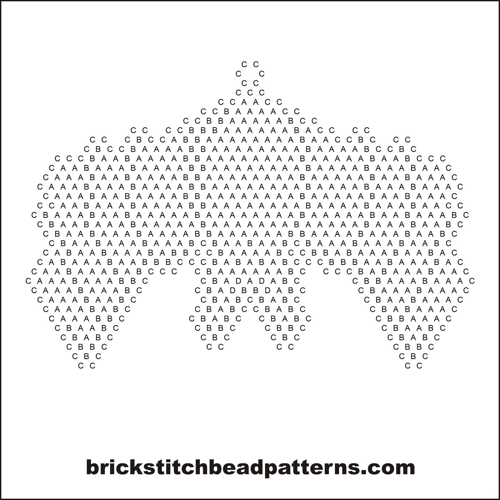 Brick Stitch Bead Patterns Journal Halloween Bat Free Diagram Of Bobble Pattern Seed Pendant Letter Chart