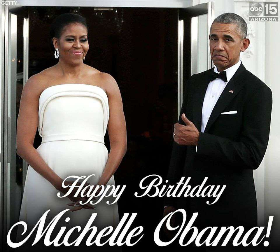 Michelle Obama's Birthday Wishes pics free download