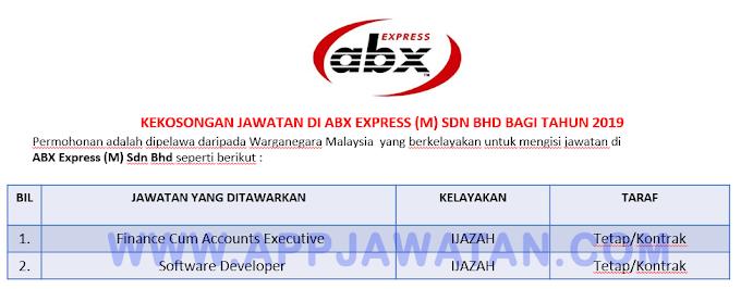 Jawatan Kosong Terkini di ABX Express (M) Sdn Bhd.